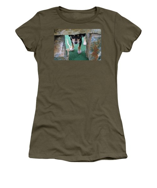 Wannabe Sled Dog In The Yukon Women's T-Shirt (Athletic Fit)
