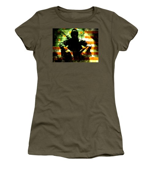 Women's T-Shirt (Junior Cut) featuring the painting War Is Hell by Brian Reaves