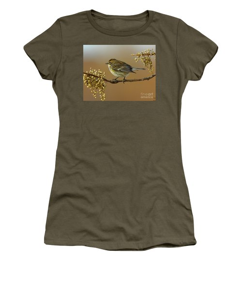 Yellow Rumped Warbler Women's T-Shirt (Athletic Fit)