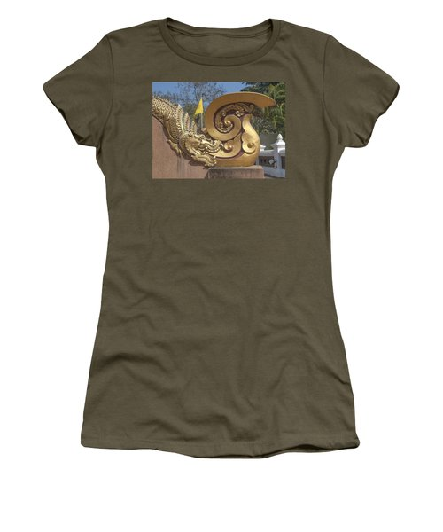 Wat Chedi Liem Phra Ubosot Makara And Stylized Naga Dthcm0838 Women's T-Shirt