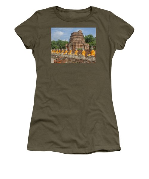 Wat Phra Chao Phya-thai Buddha Images And Ruined Chedi Dtha005 Women's T-Shirt