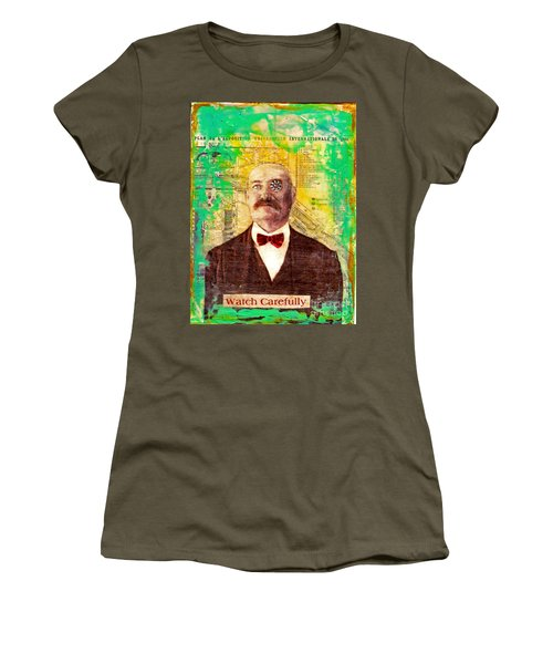 Women's T-Shirt (Junior Cut) featuring the painting Watch Carefully by Desiree Paquette