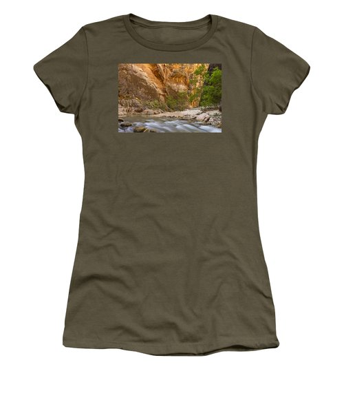 Women's T-Shirt (Junior Cut) featuring the photograph Water In The Narrows by Bryan Keil
