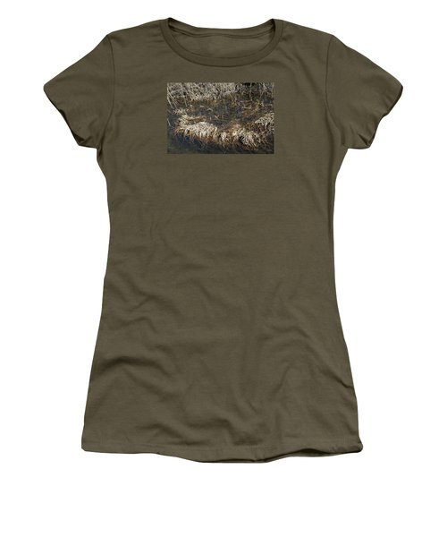 Women's T-Shirt (Junior Cut) featuring the photograph Dried Grass In The Water by Teo SITCHET-KANDA