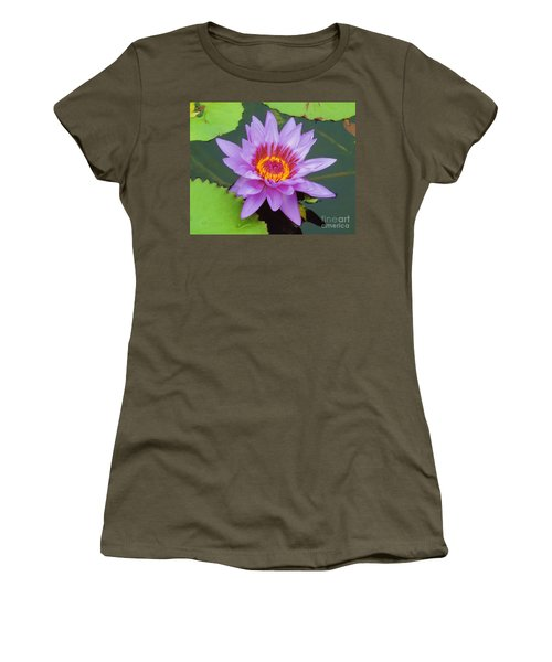 Water Lilies 005 Women's T-Shirt (Athletic Fit)