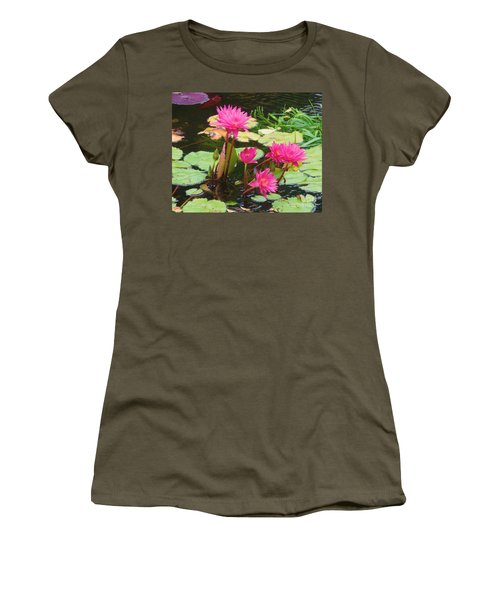 Water Lilies 008 Women's T-Shirt (Athletic Fit)