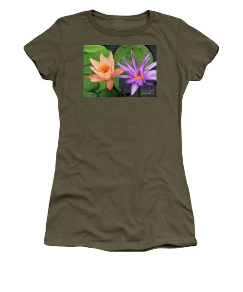 Water Lilies 011 Women's T-Shirt (Athletic Fit)