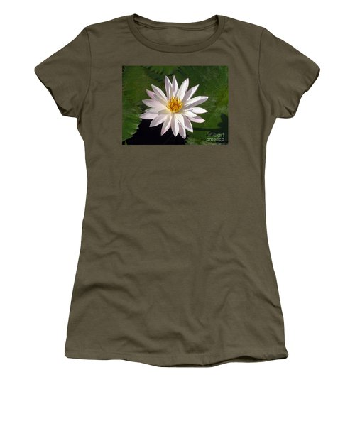 Women's T-Shirt (Junior Cut) featuring the photograph Water Lily by Sergey Lukashin