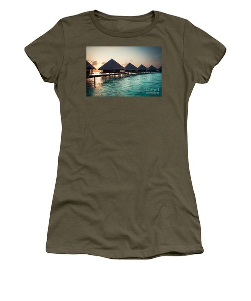 Waterbungalows At Sunset Women's T-Shirt