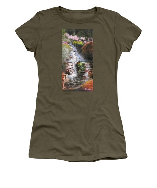 Waterfall Garden Women's T-Shirt (Athletic Fit)