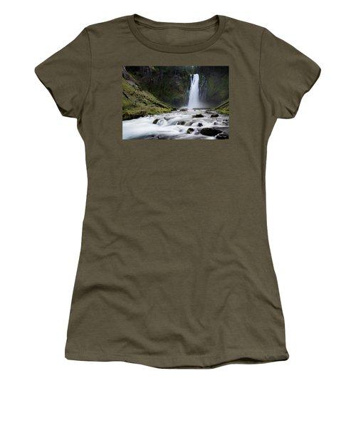 Waterfall In Oregon Women's T-Shirt