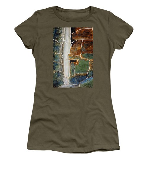 Waterfall Slate Women's T-Shirt (Athletic Fit)