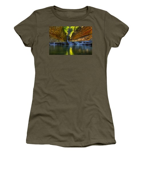 Waterfalls At Watkins Glen State Park Women's T-Shirt (Athletic Fit)