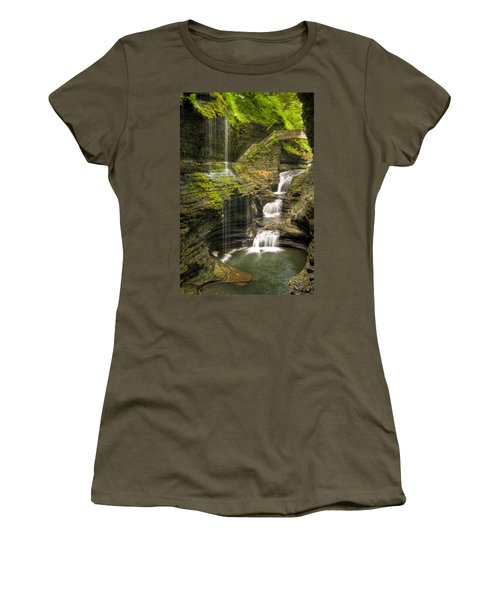 Watkins Glen Rainbow Falls Women's T-Shirt