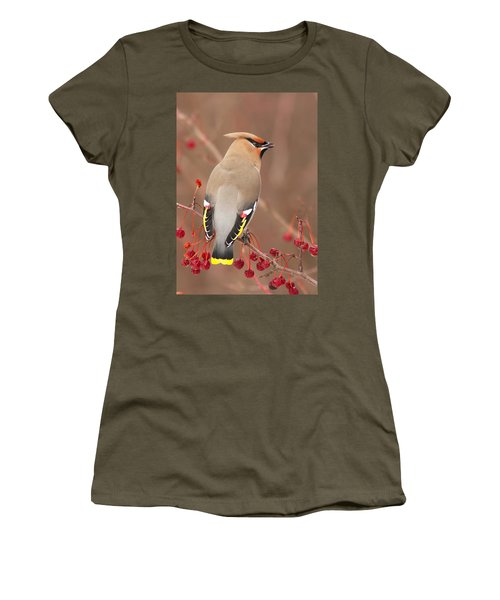 Waxwing In Winter Women's T-Shirt (Athletic Fit)
