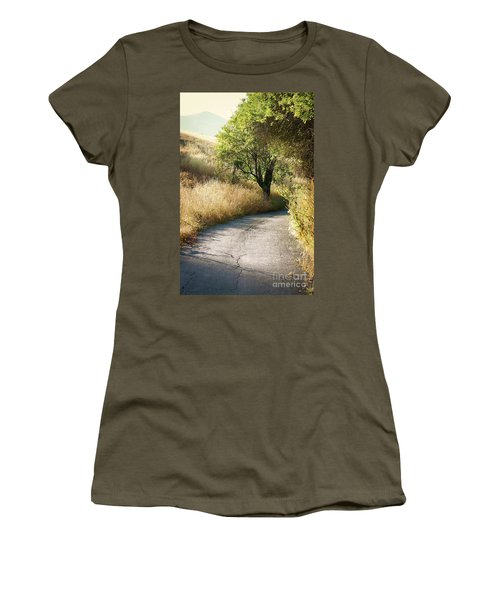 Women's T-Shirt (Junior Cut) featuring the photograph We Will Walk This Path Together by Ellen Cotton