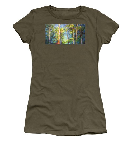 Welcome Home - Birch And Aspen Trees Women's T-Shirt (Athletic Fit)