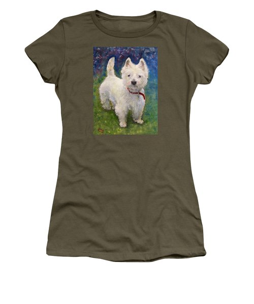 West Highland Terrier Holly Women's T-Shirt (Junior Cut) by Richard James Digance