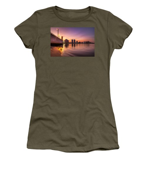 West Palm Beach Skyline At Dusk Women's T-Shirt