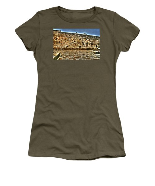 Women's T-Shirt (Junior Cut) featuring the photograph Western Wall In Israel by Doc Braham