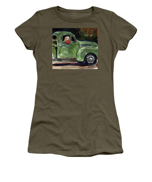 Women's T-Shirt (Junior Cut) featuring the painting Wham-o by Molly Poole