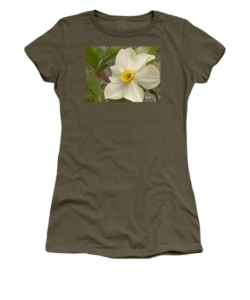 White Flower Women's T-Shirt (Athletic Fit)