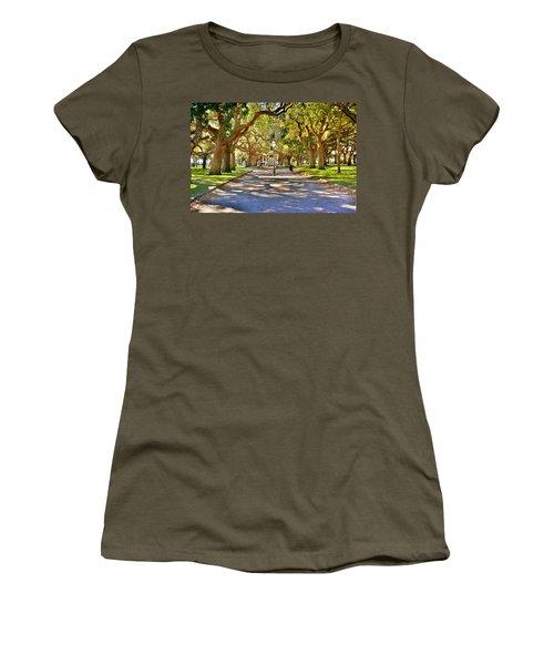 White Point Gardens At Battery Park Charleston Sc Hdr Women's T-Shirt