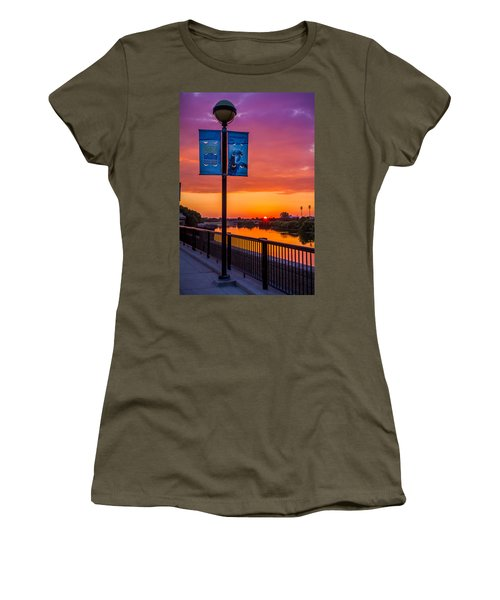 White River Sunset Women's T-Shirt