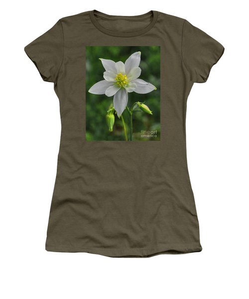 Women's T-Shirt featuring the digital art White Star Flower by Mae Wertz