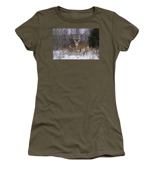 White-tailed Buck & Doe Women's T-Shirt