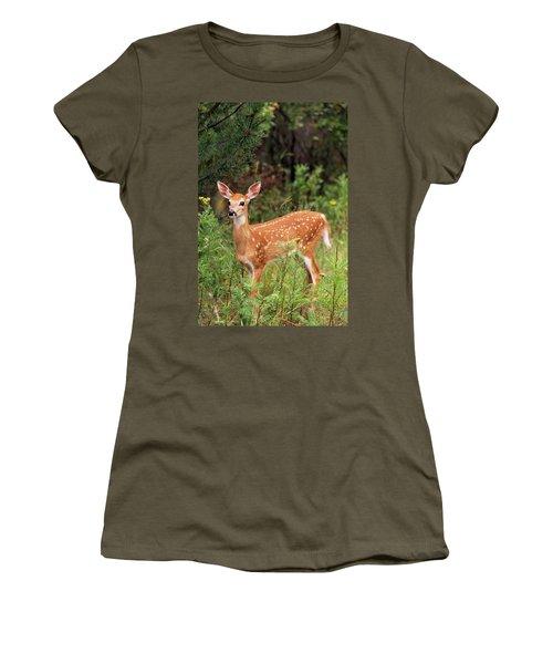 White-tailed Deer Fawn Odocoileus Women's T-Shirt