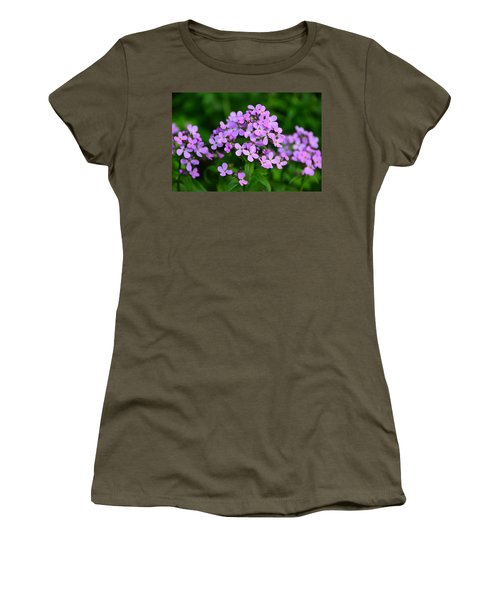 Women's T-Shirt (Junior Cut) featuring the photograph Wild Phlox by Debra Martz