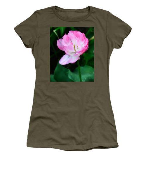 Wild Pink Rose Women's T-Shirt (Athletic Fit)