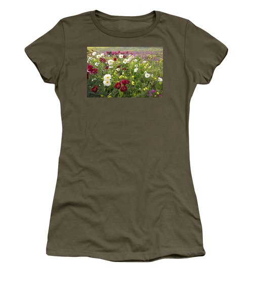 Wild Poppies South Texas Women's T-Shirt (Junior Cut) by Susan Rovira