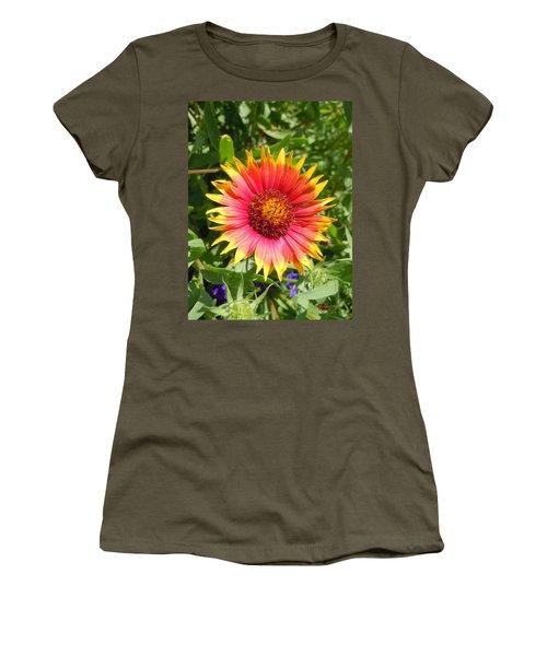 Women's T-Shirt (Junior Cut) featuring the photograph Wild Red Daisy #3 by Robert ONeil