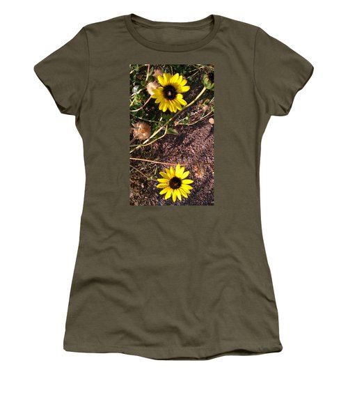 Women's T-Shirt (Junior Cut) featuring the photograph Wild Sunflowers by Fortunate Findings Shirley Dickerson