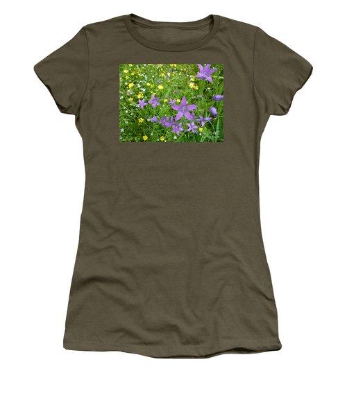 Women's T-Shirt (Junior Cut) featuring the photograph Wildflower Garden by Martin Howard