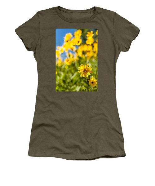 Wildflowers Standing Out Abstract Women's T-Shirt (Junior Cut) by Chad Dutson