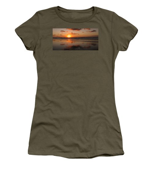 Wildwood Beach Sunrise Women's T-Shirt (Junior Cut) by David Dehner