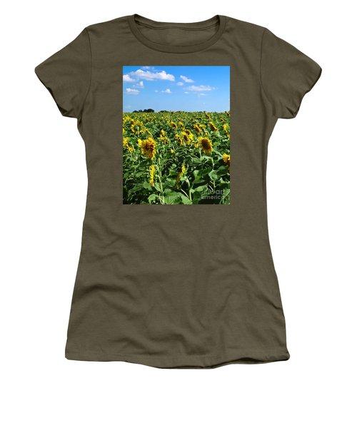 Windblown Sunflowers Women's T-Shirt