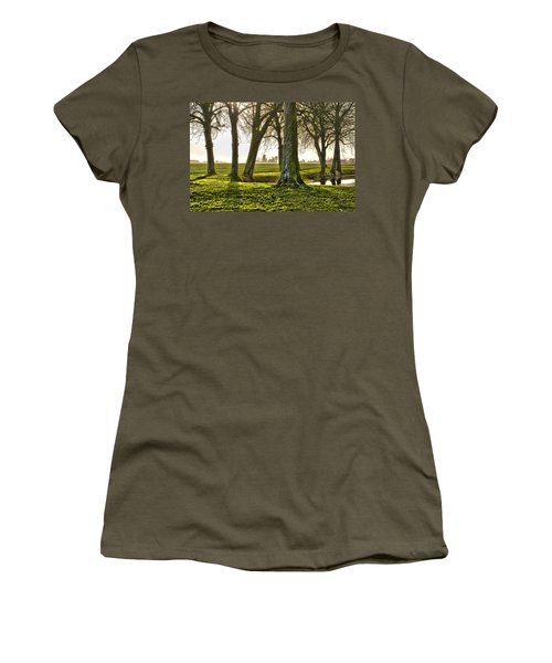 Windmill And Trees In Groningen Women's T-Shirt