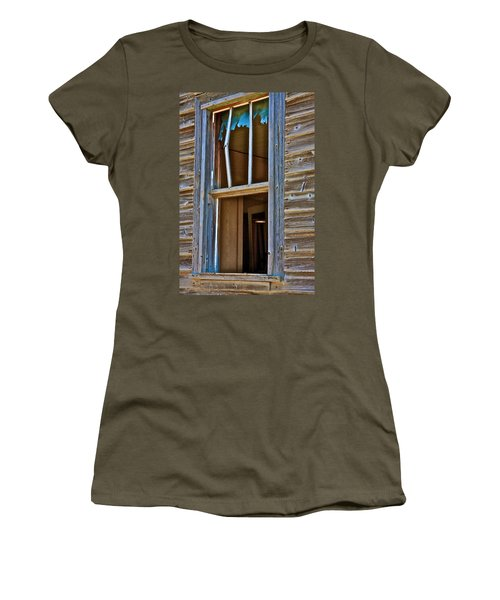 Women's T-Shirt (Junior Cut) featuring the photograph Window With A Light by Johanna Bruwer