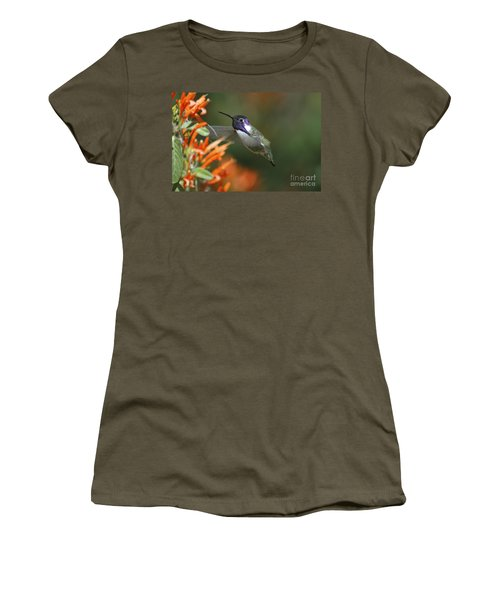 Women's T-Shirt (Junior Cut) featuring the photograph Winged Jewelry by Wilma  Birdwell