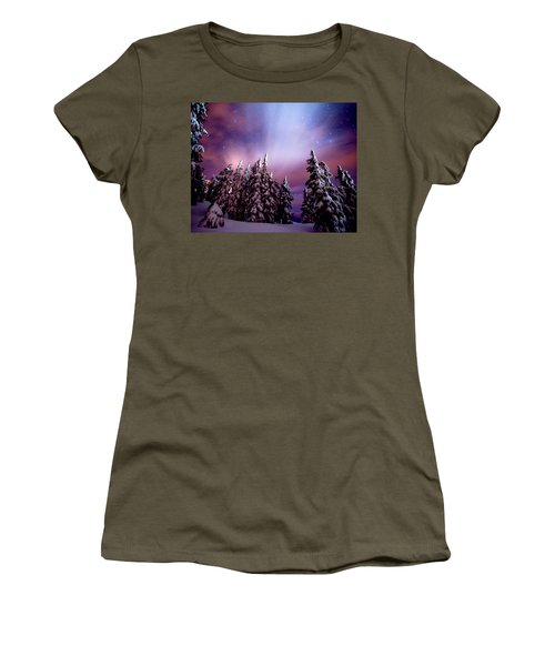 Winter Nights Women's T-Shirt (Athletic Fit)