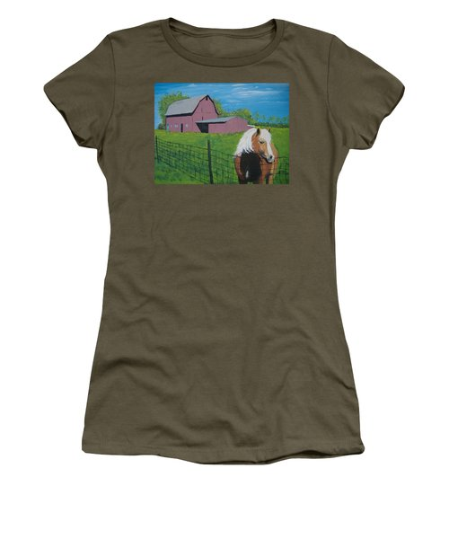 Wisconsin Barn Women's T-Shirt (Athletic Fit)
