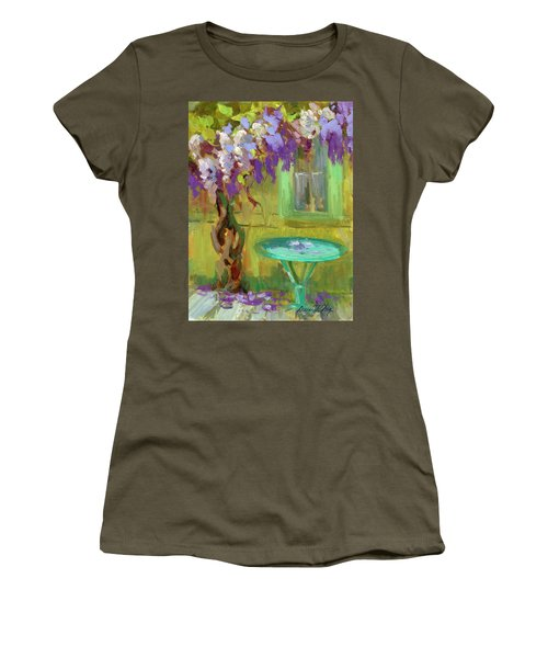 Wisteria At Hotel Baudy Women's T-Shirt (Athletic Fit)