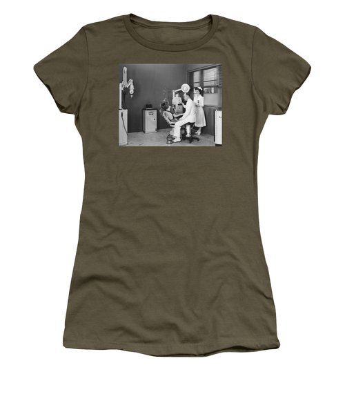 Woman In A Dentist�s Office Women's T-Shirt