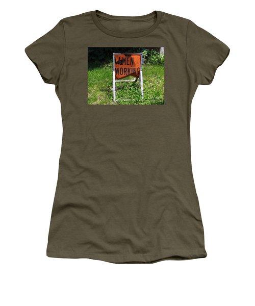 Women's T-Shirt (Junior Cut) featuring the photograph Women Working by Ed Weidman