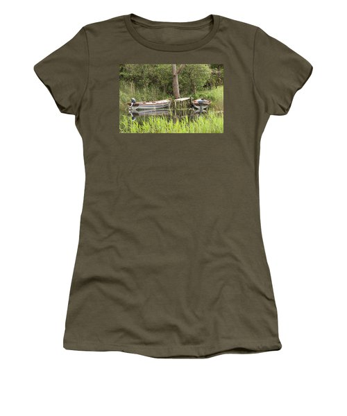 Wooden Boats Women's T-Shirt (Junior Cut) by Jeremy Voisey
