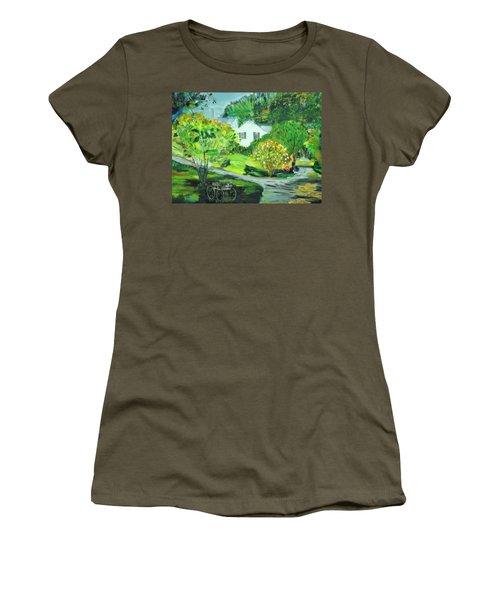 Wooden Duck Inn Women's T-Shirt (Athletic Fit)